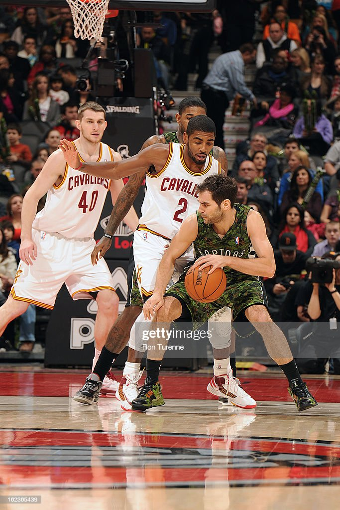 <a gi-track='captionPersonalityLinkClicked' href=/galleries/search?phrase=Jose+Calderon&family=editorial&specificpeople=548297 ng-click='$event.stopPropagation()'>Jose Calderon</a> #8 of the Toronto Raptors drives to the basket against the Cleveland Cavaliers on January 26, 2013 at the Air Canada Centre in Toronto, Ontario, Canada.