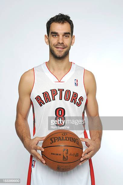 Jose Calderon of the Toronto Raptors poses for a portrait during a Media Day on October 1 2012 in Toronto Canada NOTE TO USER User expressly...