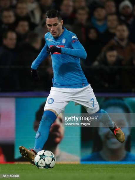 Jose Callejon of Napoli during the UEFA Champions League match between Feyenoord v Napoli at the Feyenoord Stadium on December 6 2017 in Rotterdam...