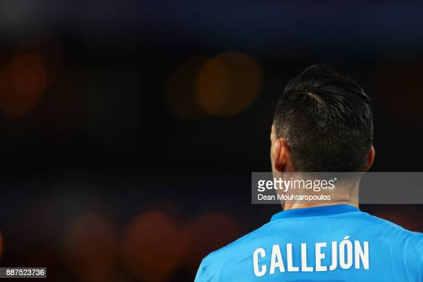 Jose Callejon of Napoli looks on during the UEFA Champions League group F match between Feyenoord and SSC Napoli at Feijenoord Stadion on December 6...