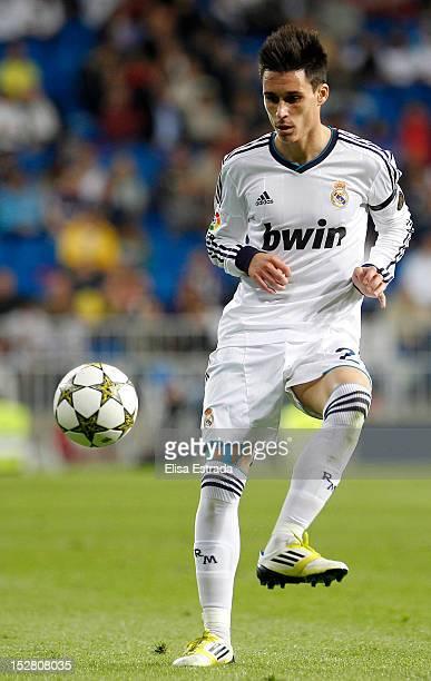 Jose Callejon of Real Madrid in action during the Santiago Bernabeu Trophy match between Real Madrid and Millonarios CF at Santiago Bernabeu stadium...