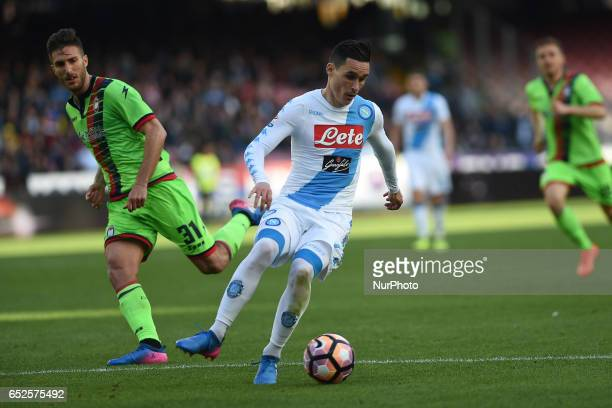 Jose Callejon of SSC Napoli during the Serie A TIM match between SSC Napoli and FC Crotone at Stadio San Paolo Naples Italy on 12 March 2017