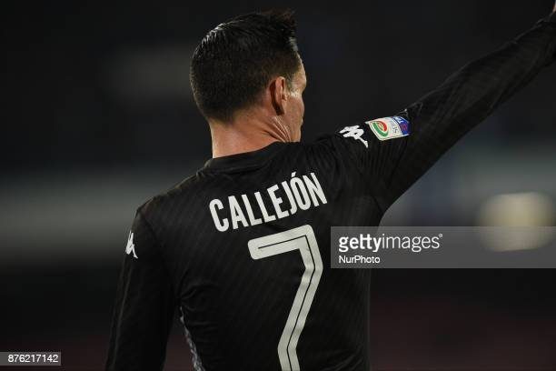 Jose Callejon of SSC Napoli during the Serie A TIM match between SSC Napoli and AC Milan at Stadio San Paolo Naples Italy on 18 November 2017