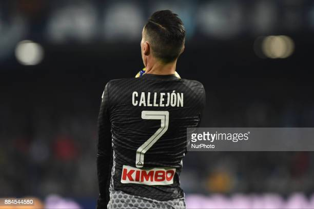 Jose Callejon of SSC Napoli during the Serie A TIM match between SSC Napoli and Juventus FC at Stadio San Paolo Naples Italy on 1 December 2017