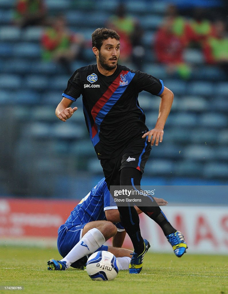 Jose Campana of Crystal Palace in action during the pre season friendly match between Gillingham and Crystal Palace at Priestfield Stadium on July 23, 2013 in Gillingham, Medway.