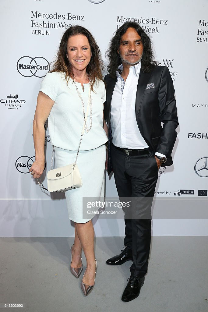 José Campos and Christine Neubauer attend the Minx by Eva Lutz show during the Mercedes-Benz Fashion Week Berlin Spring/Summer 2017 at Erika Hess Eisstadion on June 29, 2016 in Berlin, Germany.