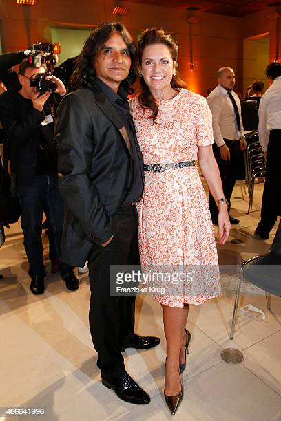 Jose Campos and Christine Neubauer attends the Deutscher Hoerfilmpreis 2015 on March 17 2015 in Berlin Germany