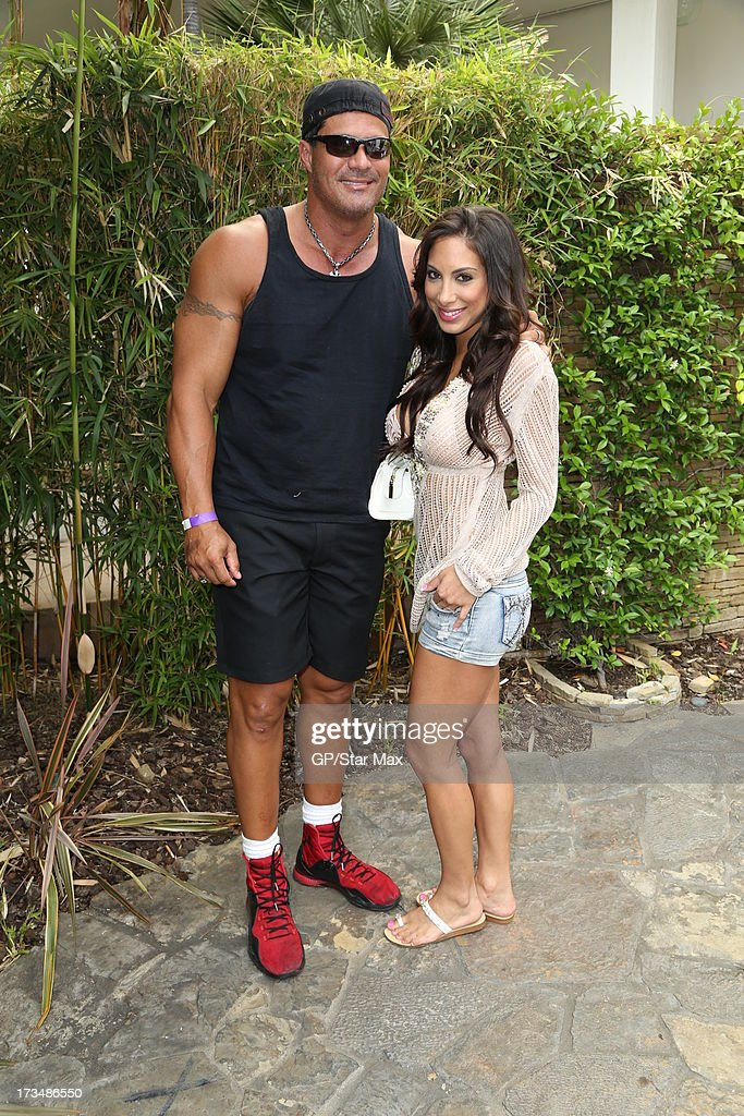 Jose Canseco and Leila Knight as seen on July 14, 2013 in Los Angeles, California.