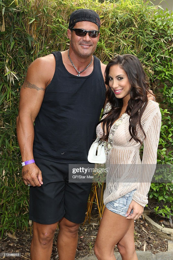 <a gi-track='captionPersonalityLinkClicked' href=/galleries/search?phrase=Jose+Canseco&family=editorial&specificpeople=203063 ng-click='$event.stopPropagation()'>Jose Canseco</a> and Leila Knight as seen on July 14, 2013 in Los Angeles, California.