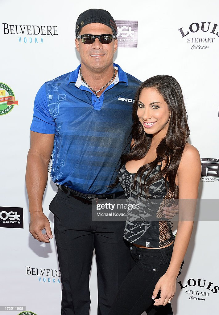 Jose Canseco and Leila Knight attend The 4th annual Alex Thomas Celebrity Golf Classic presented by Belvedere at Mountain Gate Country Club on July 15, 2013 in Los Angeles, California.