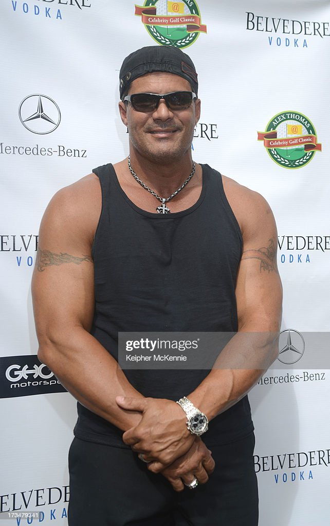 <a gi-track='captionPersonalityLinkClicked' href=/galleries/search?phrase=Jose+Canseco&family=editorial&specificpeople=203063 ng-click='$event.stopPropagation()'>Jose Canseco</a> arrives to the 4th Annual Alex Thomas Celebrity Golf Weekend Pool Party hosted by NFL's Jacoby Jones of the Baltimore Ravens at Hollywood Roosevelt Hotel on July 14, 2013 in Hollywood, California.