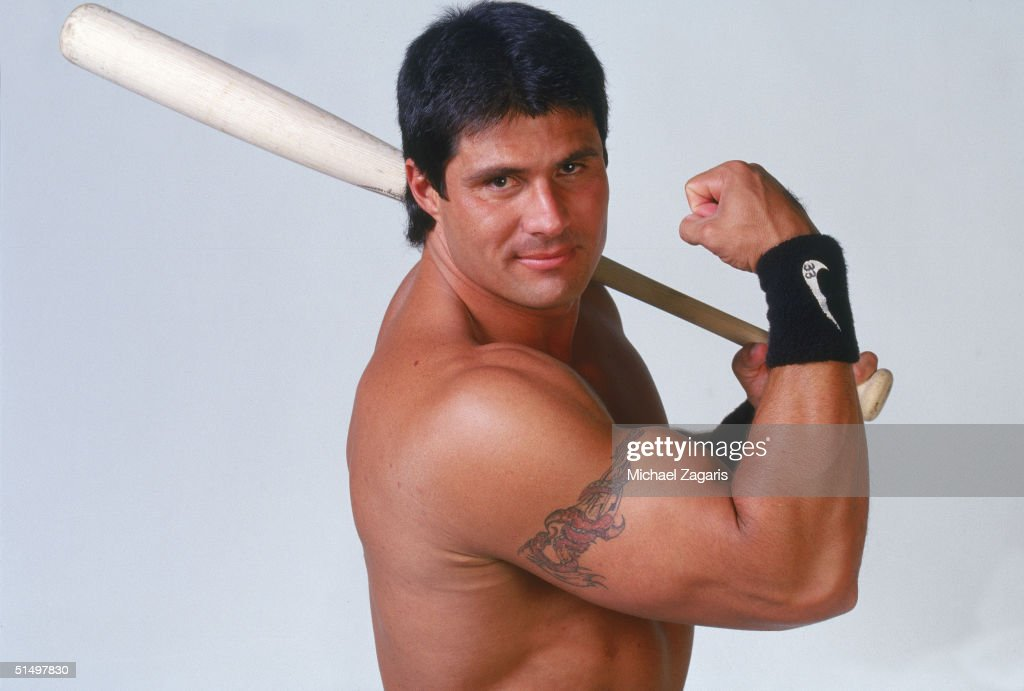 <a gi-track='captionPersonalityLinkClicked' href=/galleries/search?phrase=Jose+Canseco&family=editorial&specificpeople=203063 ng-click='$event.stopPropagation()'>Jose Canseco</a> of the Tampa Bay DelivRays poses for a portrait on June 2, 1999 in Oakland, California.