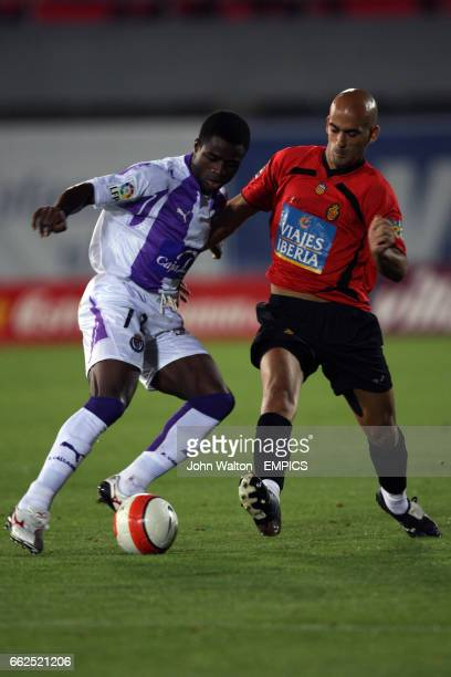 Jose Carlos Nunes Mallorca and Bartholomew Ogbeche Valladolid battle for the ball