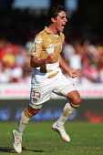 Jose Carlos Van Rankin of Pumas celebrates the first goal of his team during a match between Veracruz and Pumas UNAM as part of 15th round Clausura...