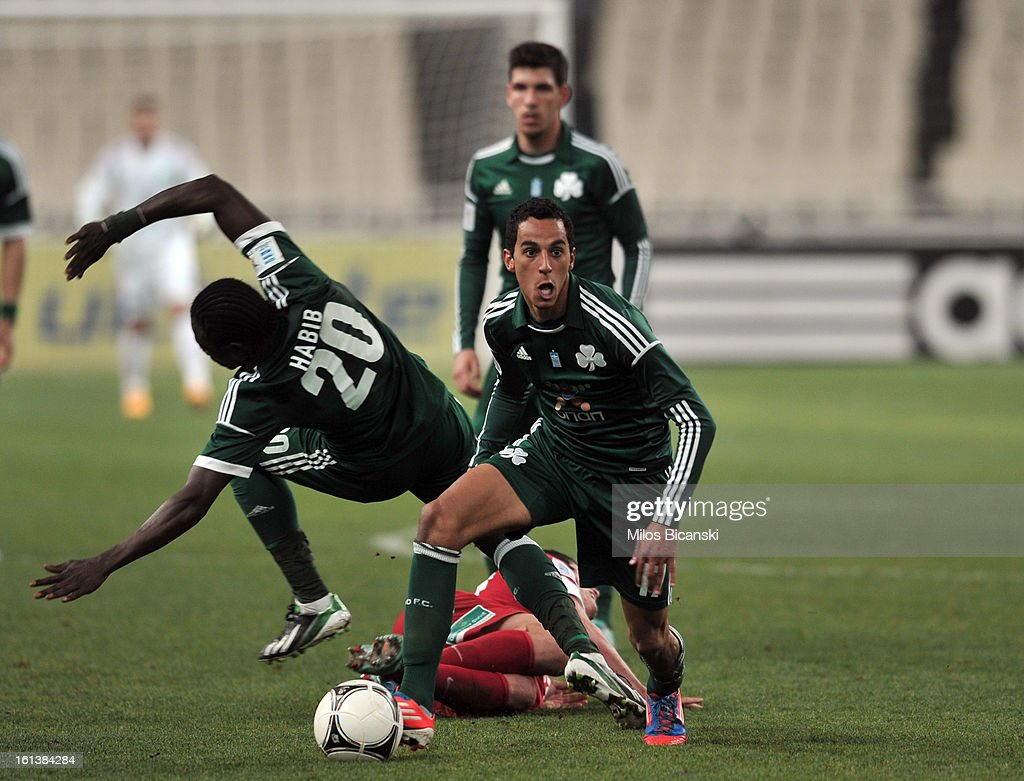 Jose Carlos Zeca of Panathinaikos FC controls the ball during the Superleague match between Panathinaikos FC and Skoda Xanthi at OAKA Stadion on February 10, 2013 in Athens,Greece.