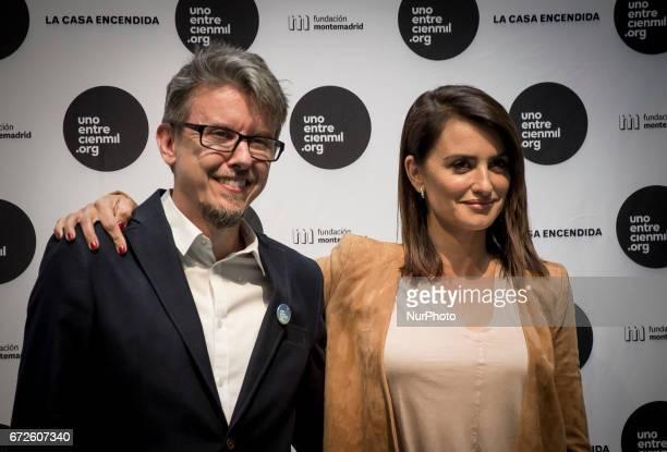 Jose Carnero and Penelope Cruz attend the Unoentrecienmil Foundation charity event against childhood leukemia at La Casa Encendida on April 24 2017...