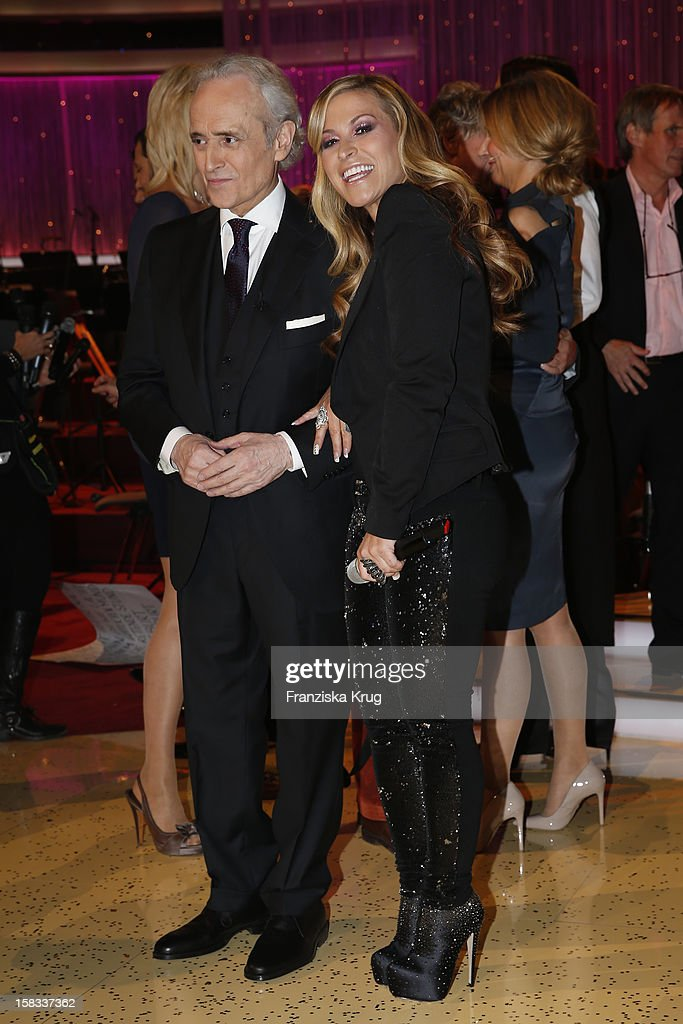 Jose Carreras and Anastacia perform during the 18th Annual Jose Carreras Gala on December 13, 2012 in Leipzig, Germany.
