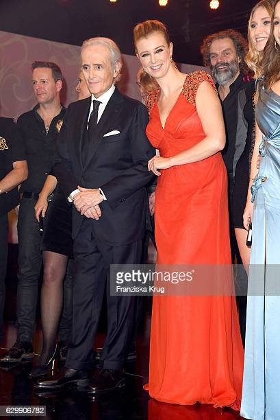 Jose Carreras and Nina Eichinger attend the 22th Annual Jose Carreras Gala on December 14 2016 in Berlin Germany