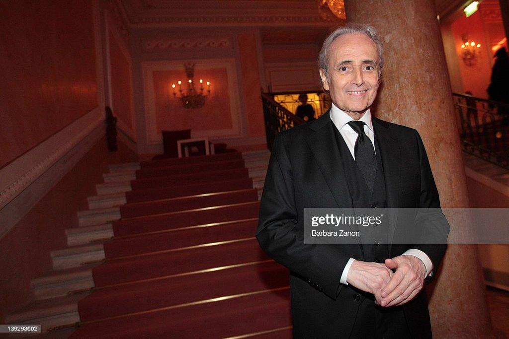 Jose Carreras attends the exclusive Ballo della Cavalchina at Fenice Theatre on February 18, 2012 in Venice, Italy.