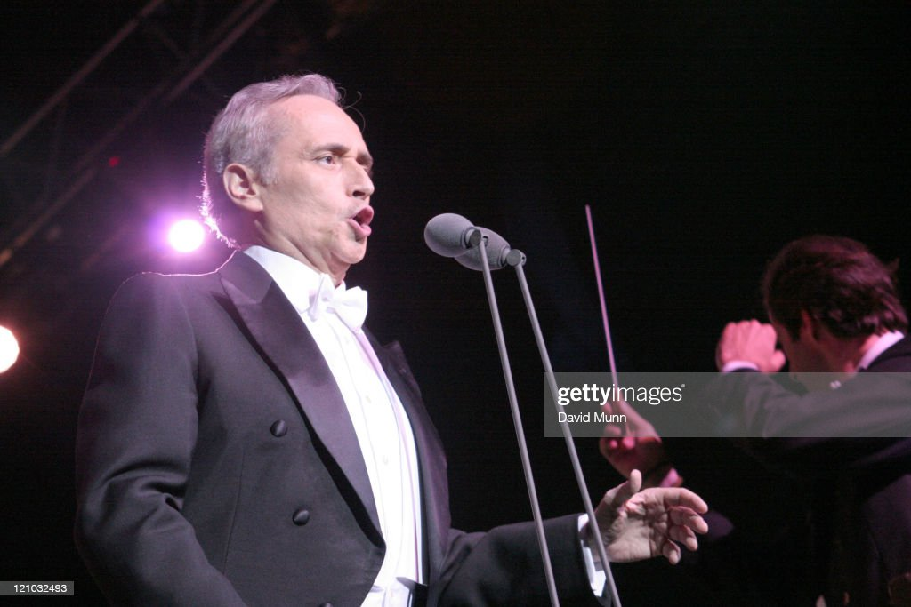 Jose Carreras during Jose Carreras Performs at The Summer Pops - July 24, 2005 at Big Top Arena in Liverpool, Great Britain.