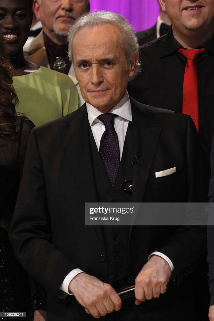 Jose Carreras performs during the 18th Annual Jose Carreras Gala on December 13, 2012 in Leipzig, Germany.