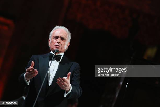 Jose Carreras performs during the Dinner and Entertainment at Palazzo Colonna as part of the 2017 Celebrity Fight Night in Italy Benefiting The...