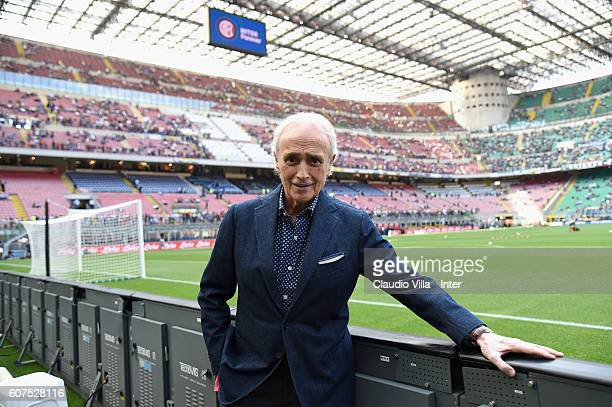 Jose Carreras poses before the Serie A match between FC Internazionale and Juventus FC at Stadio Giuseppe Meazza on September 18 2016 in Milan Italy