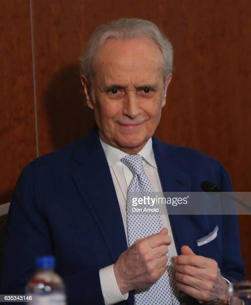 Jose Carreras sings during a press conference at ShangriLa Hotel on February 15 2017 in Sydney Australia