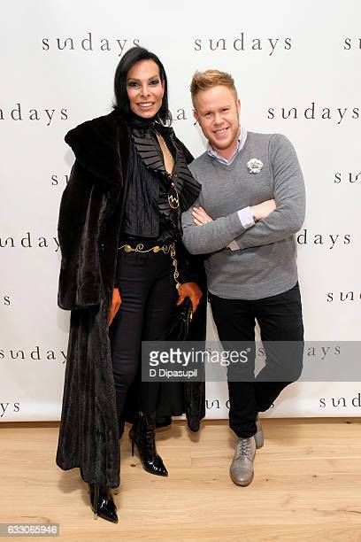 Jose Castelo Branco and Andrew Werner attend the sundays preopening party on January 29 2017 in New York City