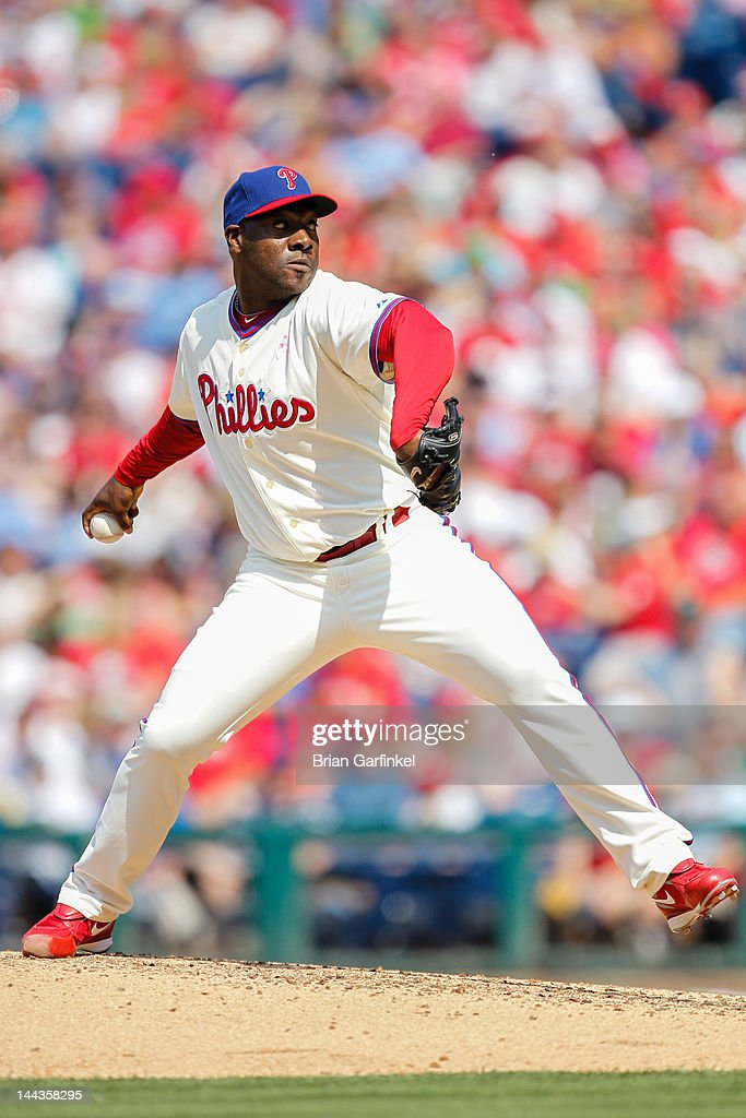 <a gi-track='captionPersonalityLinkClicked' href=/galleries/search?phrase=Jose+Contreras&family=editorial&specificpeople=202200 ng-click='$event.stopPropagation()'>Jose Contreras</a> #52 of the Philadelphia Phillies throws a pitch during the game against the San Diego Padres at Citizens Bank Park on May 13, 2012 in Philadelphia, Pennsylvania. The Phillies won 3-2.