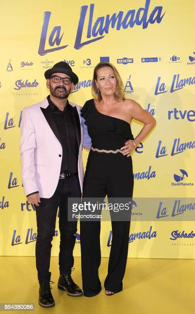 Jose Corbacho and Monica Mira attend the 'La Llamada' premiere yellow carpet at the Capitol cinema on September 26 2017 in Madrid Spain