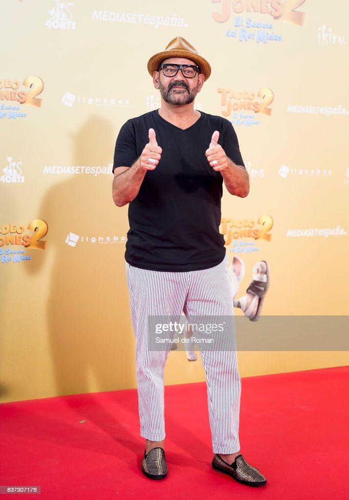 Jose Corbacho attends the 'Tadeo Jones 2. El Secreto Del Rey Midas' Madrid Premiere on August 22, 2017 in Madrid, Spain.