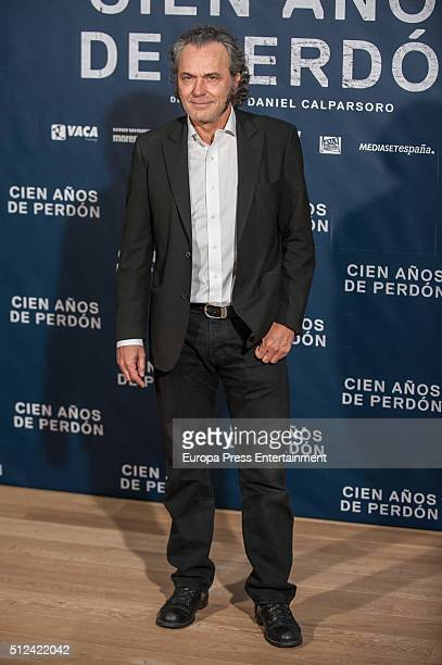 Jose Coronado attends a photocall for 'Cien Anos de Perdon' on February 25 2016 in Madrid Spain