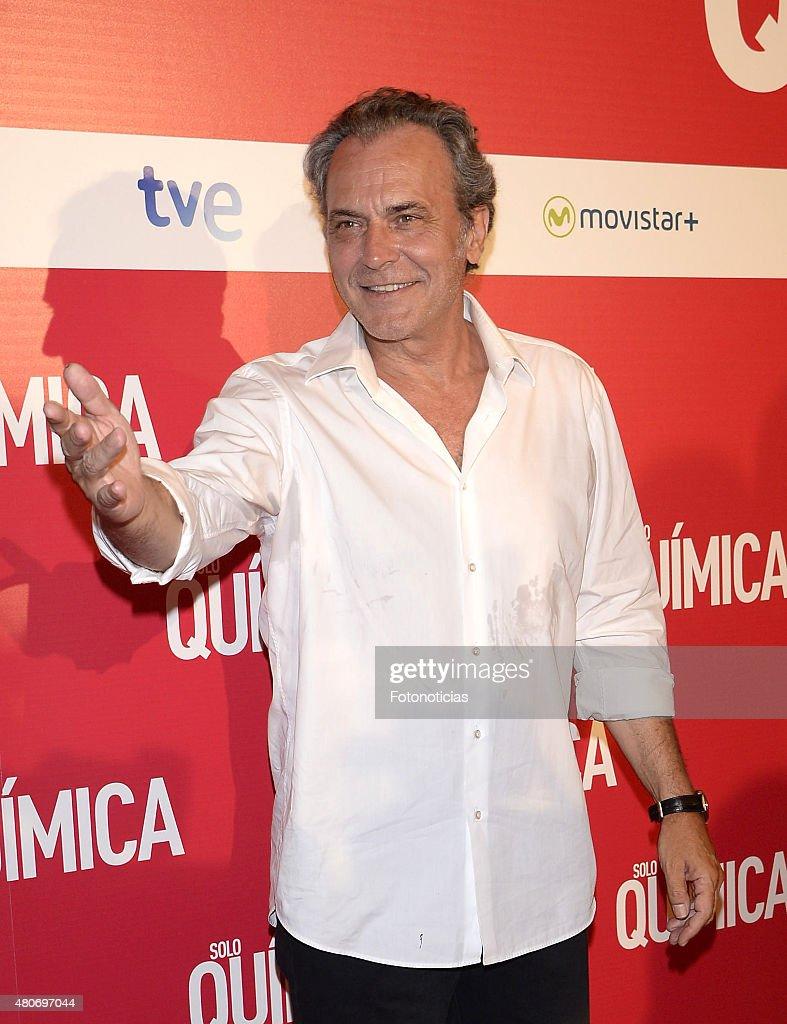 Jose Coronado attends the 'Solo Quimica' Premiere at Palafox Cinema on July 14, 2015 in Madrid, Spain.
