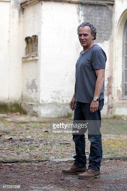 Jose Coronado poses for the press on the set of his latest movie 'Secuestro' on June 15 2015 in Barcelona Spain