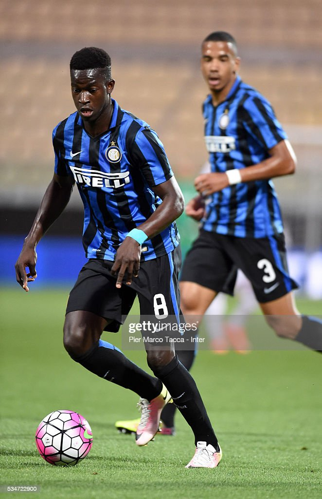 Jose Correia of FC Internazionale in action during the juvenile playoff match between FC Internazionale and US Citta di Palermo on May 27, 2016 in Modena, Italy.