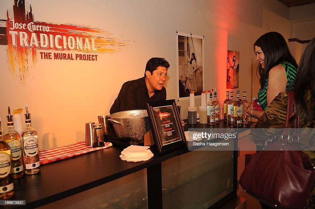 Jose Cuervo bar served two signature cocktails during the Jose Cuervo Grand Prize Winner Annoucement party at Centro Cultural Aztlan on April 17, 2013 in San Antonio, Texas.