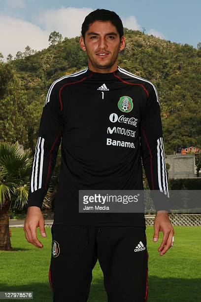 Jose de Jesus Corona DURING a trainning session poses of the Mexican National Soccer Team U22 at CAR on October 3 2011 in Mexico City Mexico