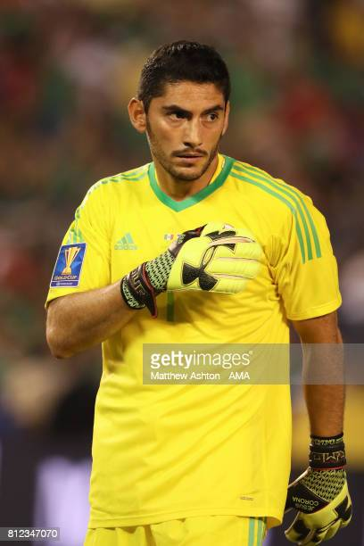 Jose de Jesus Corona of Mexico during the 2017 CONCACAF Gold Cup Group C match between Mexico and El Salvador at Qualcomm Stadium on July 9 2017 in...