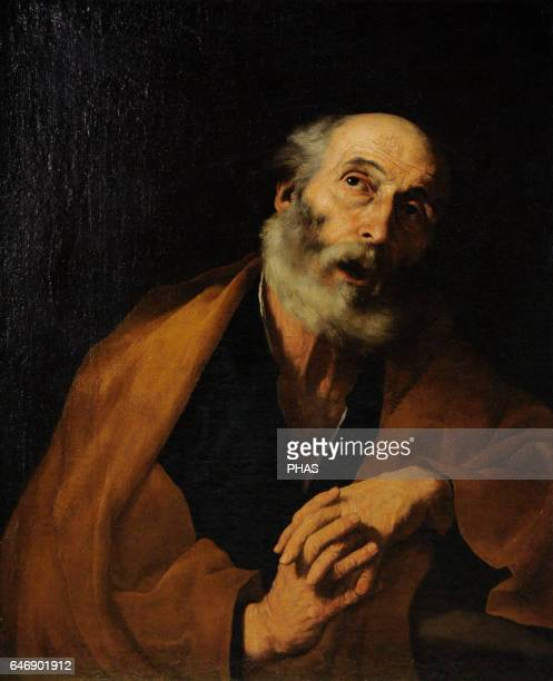 Jose de Ribera Spanish Tenebrist painter Baroque The Penitent St Peter 16281630 The State Hermitage Museum Saint Petersburg Russia