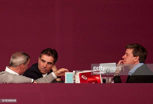 Jose Diaz Vecino and Cayetano Martinez de Irujo attend the Madrid Horse Week 2017 at IFEMA on November 23 2017 in Madrid Spain