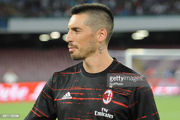 Jose Ernesto Sosa during the Serie A match between Napoli v Milan at San Paolo Stadium on August 27 2016 in Naples Italy