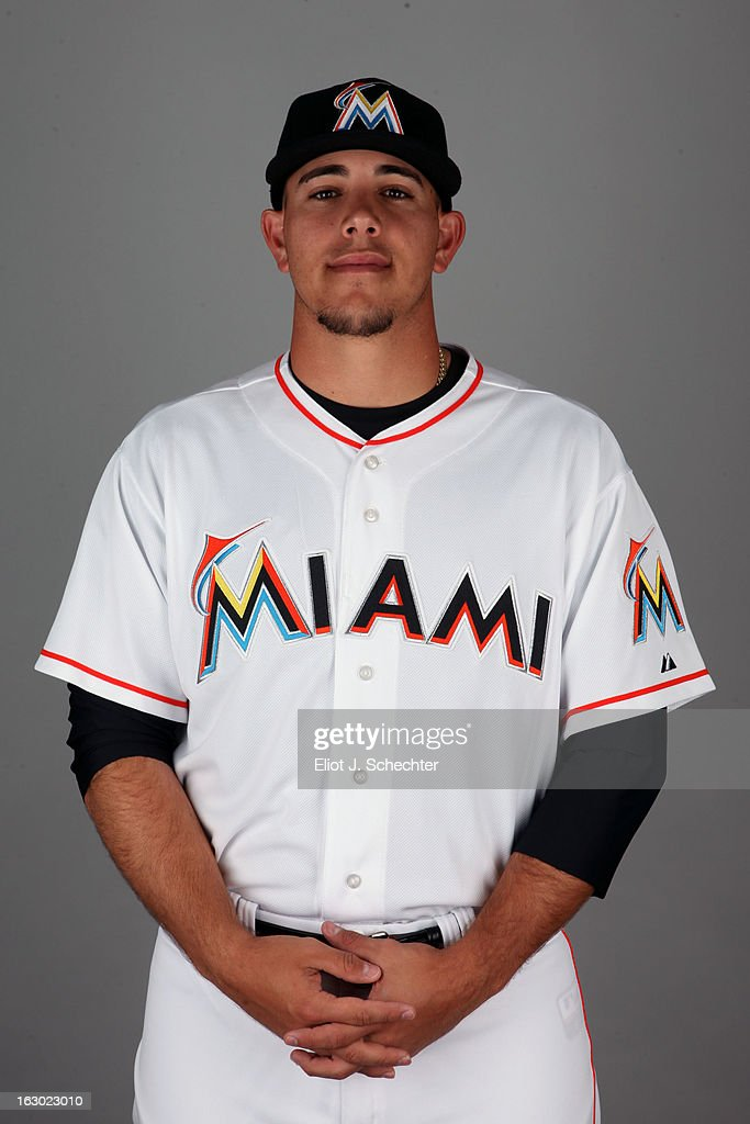 Jose Fernandez #78 of the Miami Marlins poses during Photo Day on Friday, February 22, 2013 at Roger Dean Stadium in Jupiter, Florida.