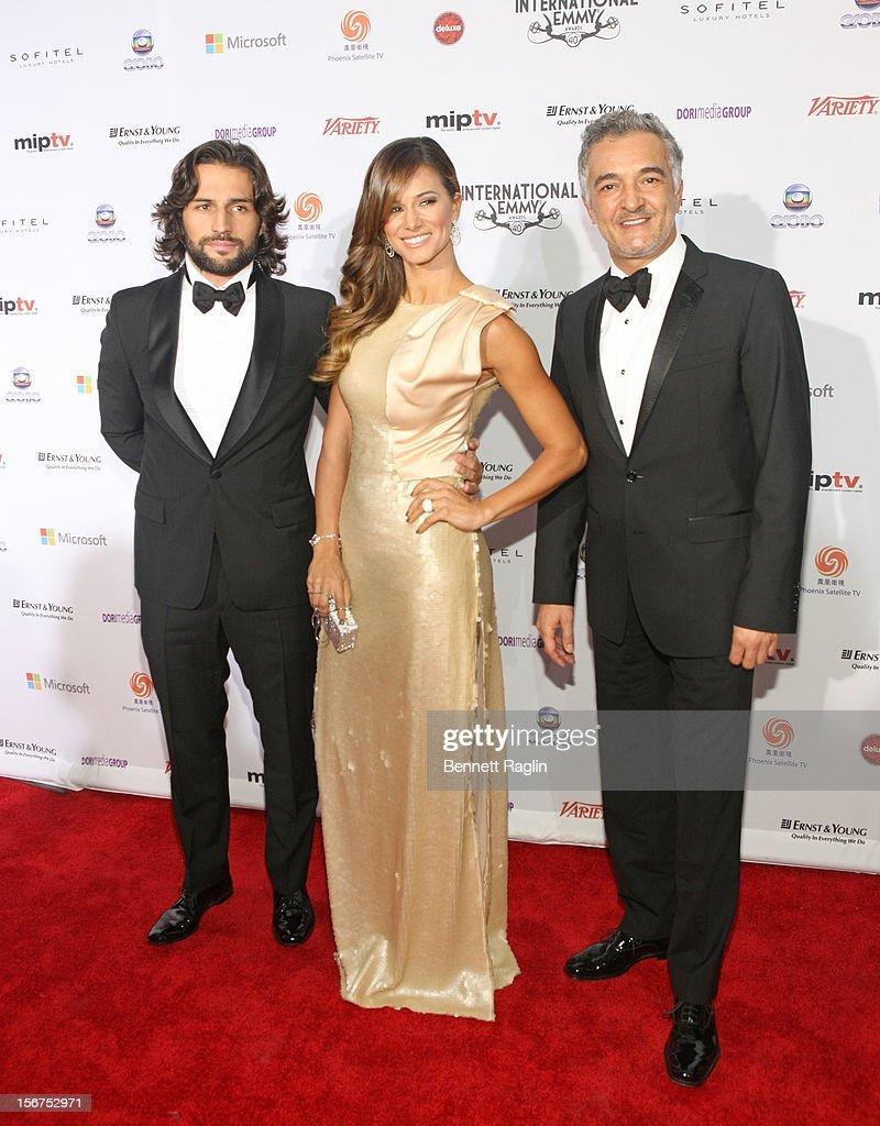 Jose Fidalgo, Claudio Vieira and Rogerio Samora attend the 40th Annual International Emmy Awards at the Hilton New York on November 19, 2012 in New York City.
