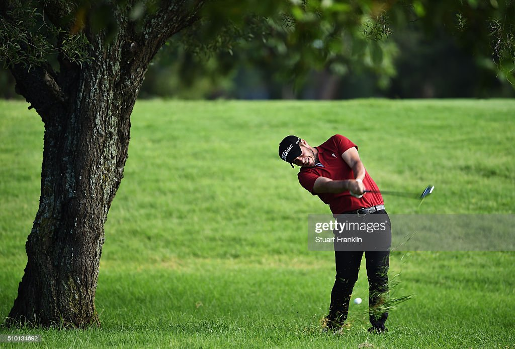 Jose - Filipe Lima of Portugal plays a shot during the final round of the Tshwane Open at Pretoria Country Club on February 14, 2016 in Pretoria, South Africa.