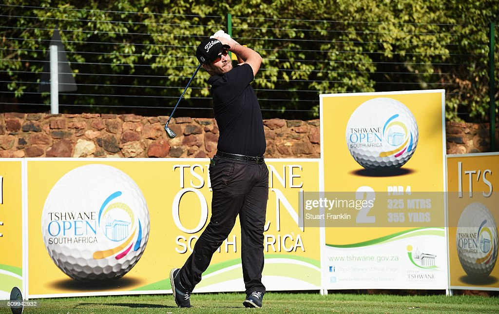 Jose - Filipe Lima of Portugal plays a shot during the third round of the Tshwane Open at Pretoria Country Club on February 13, 2016 in Pretoria, South Africa.