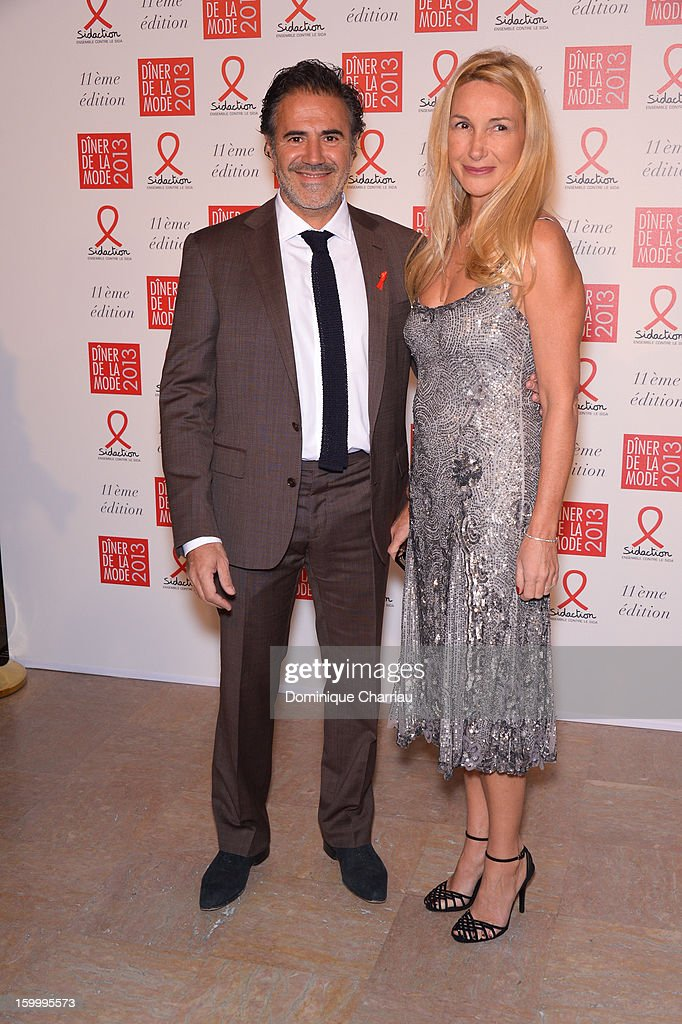 Jose Garcia and his wife femme Isabelle Doval attend the Sidaction Gala Dinner 2013 at Pavillon d'Armenonville on January 24, 2013 in Paris, France.