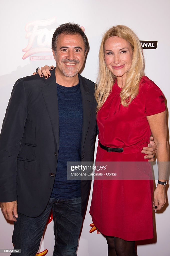 Jose Garcia and his wife Isabelle Doval attend the 'Fonzy' Paris Premiere at Cinema Gaumont Opera, in Paris.