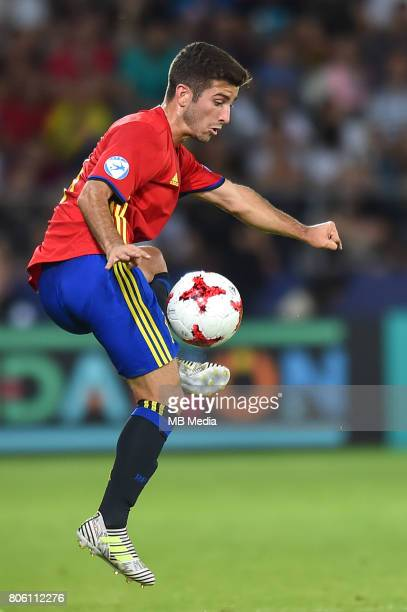 Jose Gaya during the UEFA European Under21 final match between Germany and Spain on June 30 2017 in Krakow Poland