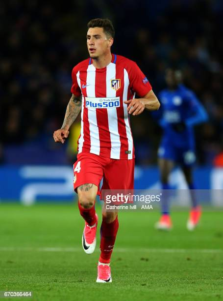 Jose Gimenez of Atletico Madrid during the UEFA Champions League Quarter Final second leg match between Leicester City and Club Atletico de Madrid at...